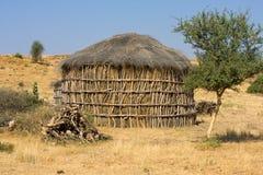 Hütte in der Wüste Stockbild