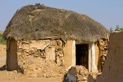 Hütte in der Wüste nahe Jaisalmer, Indien Stockbilder