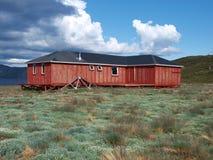 Hütte des nördlichen Polarkreises Hinter, Grönland stockbild