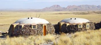 Häuschen, welches das Tal gegenüberstellt Stockfotografie
