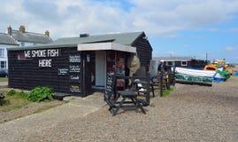 Hütte, die frische Fische Aldeburgh verkauft Lizenzfreies Stockfoto