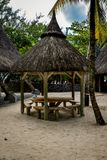Hütte für das Stillstehen auf den Ufern vom Indischen Ozean Lizenzfreie Stockbilder