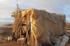 Hütte gemacht vom Polyäthylen Stockfoto