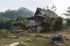 Hütte im Wald Stockbild