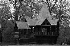 Hütte Märchen stockbild