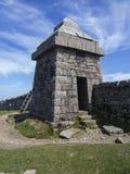Hütte nah an dem Gipfel von slieve Commedagh Stockbild