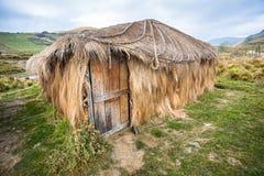 Hütte oder Strohhütte Stockbild