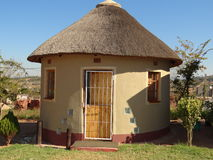Hütte Rondavel Afrika in Südafrika Lizenzfreies Stockfoto