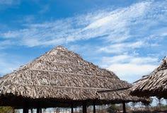 Hütte und Strand lizenzfreies stockbild