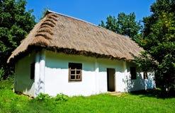 Hütte- und Thatchdach Lizenzfreie Stockbilder