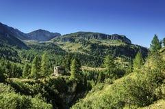 Hütte Val di Fassas (Nord-Italien) Taramelli Lizenzfreies Stockbild