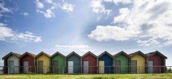 Hütten in einer Reihe Stockfotografie