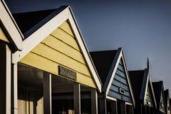 Hütten in einer Reihe Lizenzfreies Stockfoto