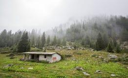 Hütten im Wald Lizenzfreie Stockfotos