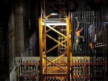 Hüttenarbeiter nachts Stockbild