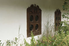 Hüttenfenster stockfotografie