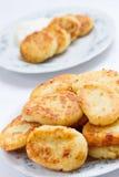 Hüttenkäse-Pfannkuchen Stockfotos