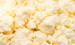 Hüttenkäsebeschaffenheit des Milchprodukthintergrundes lizenzfreie stockfotografie