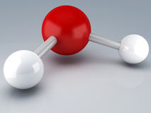 H20 μόριο τρισδιάστατο διανυσματική απεικόνιση