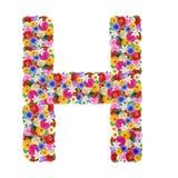 H, буква алфавита в различных цветках Стоковые Изображения RF