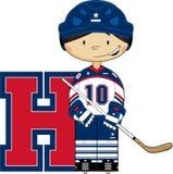 H для хоккея Стоковое Изображение