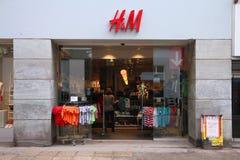 H&M in Kopenhagen Stock Afbeelding