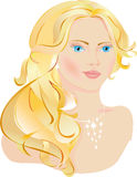 härlig lady royaltyfri illustrationer