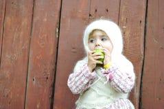 härlig liten flickastående Royaltyfria Bilder