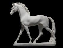 hästpurebredstatuette Arkivfoto
