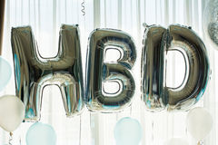 H B D Balloon in birthday party background