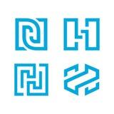 H-Buchstabe Logo Template Lizenzfreies Stockfoto