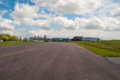 H.C. andersen airport in Odense in Denmark. H.C. andersen airport in Odense on Fyn in Denmark stock images
