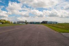 H C andersen luchthaven in Odense in Denemarken stock afbeeldingen