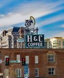H&C-Kaffee-Zeichen lizenzfreies stockbild