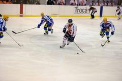 H.C. Milan RedBlue - H.C. Eppan Appiano: Edoardo C. MILAN, FEBRUARY 04: a moment of the game Hockey Club Milan Red Blue vs. H. C. Eppan Appiano in Italian A2 Royalty Free Stock Photos