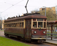 H Class Tram. The old H Class Rattler tram in Adelaide, South Australia. They have been serving Adelaide since 1929. Recently replaced by the German Bombardier Stock Image