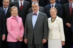 H. Clinton, K. Schwarzenberg, B. Ferrero-Waldner Royalty Free Stock Photography