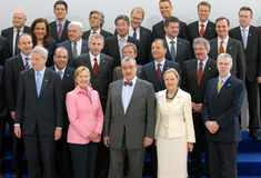 H. Clinton, K. Schwarzenberg, B. Ferrero-Waldner Royalty Free Stock Photo