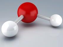 H20 3d molekuła ilustracja wektor