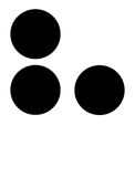 H dans braille Image stock