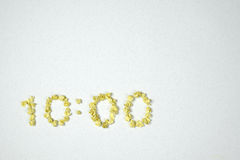 10h00 de temps Image libre de droits