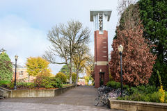The H. Dean Pape bell tower on the Oregon State University campu Royalty Free Stock Image