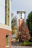 H Dekan Pape Bell Tower på den Oregon delstatsuniversitetuniversitetsområdet, C Arkivbilder