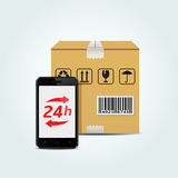24h Delivery Service Royalty Free Stock Image