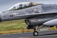 16h du matin des forces aériennes des Pays-Bas f combattant le faucon Photos stock