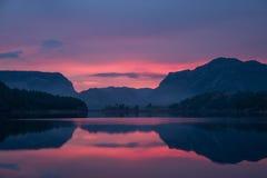 6h du matin en Norvège Photographie stock libre de droits