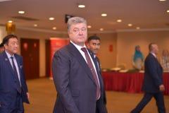 H E Petro Poroshenko, président de l'Ukraine image stock