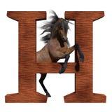 H est pour le cheval illustration de vecteur