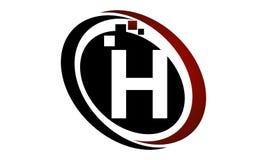 H för bokstav för teknologirörelsesynergi Royaltyfri Fotografi
