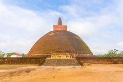 H för fält för Anuradhapura Abhayagiri Dagoba momentsmuts Fotografering för Bildbyråer